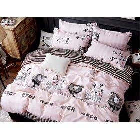 Полуторное постельное белье Smart bears 150х200
