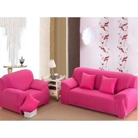 Чехол на трехместный диван HomyTex 195х230 розовый