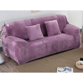 Чехол на трехместный диван HomyTex 195х230 замш сиреневый