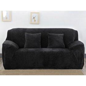 Чехол на трехместный диван HomyTex 195х230 замш черный