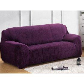 Чехол на трехместный диван HomyTex 195х230 замш фиолетовый