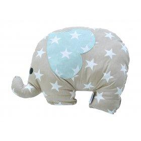 Подушка декоративная Слон серо-бежевый