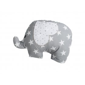 Подушка декоративная Слон серый