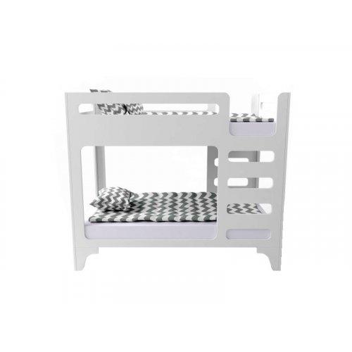 Кровать двухъярусная cuBED белая 80х160
