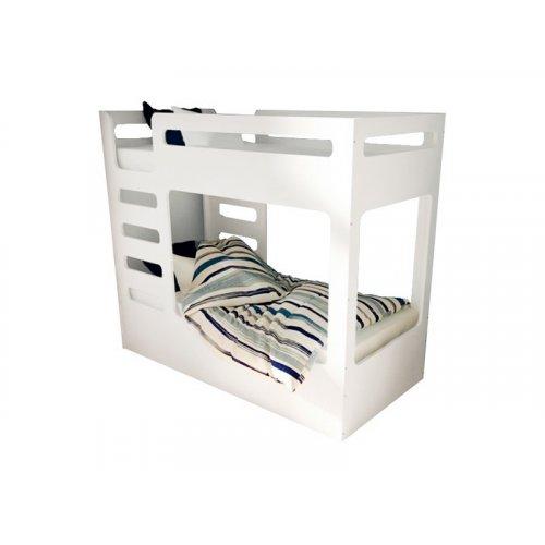 Кровать двухъярусная cuBED белая с выдвижным ящиком