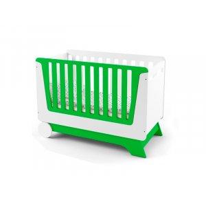 Кроватка-трансформер Nova Kit бело/зеленая