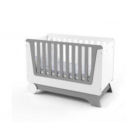 Кроватка-трансформер для новорожденного Nova Kit бело/серая