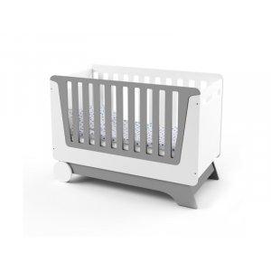 Ліжечко-трансформер для новонародженого Nova Kit біло/сірий