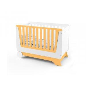 Кроватка-трансформер для новорожденного Nova Kit бело/оранжевая