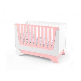 Кроватка-трансформер для новорожденного Nova Kit бело/розовая