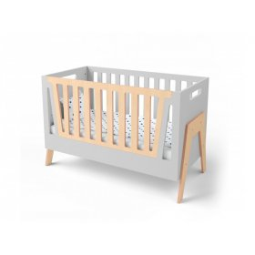 Кроватка-трансформер для новорожденного Shuttle серый/натуральное дерево