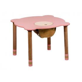 Стол круглый розовый