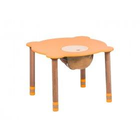 Стол круглый оранжевый