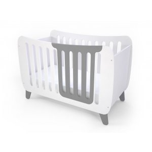 Кроватка Fashion Kit белая/серая
