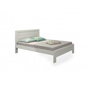 Кровать Люкс 160x200 бук, срощенный, лак, белый