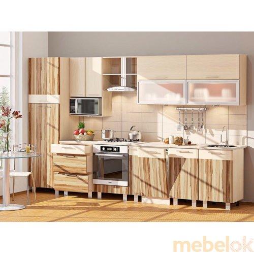 Зеркальное отображение - Кухня-101 Софт Комби 3,4 м