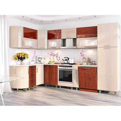 Кухня-105 Хай-тек 1,7х3,2 м