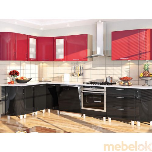Зеркальное отображение - Кухня-166 Хай-тек 3,1х1,7 м
