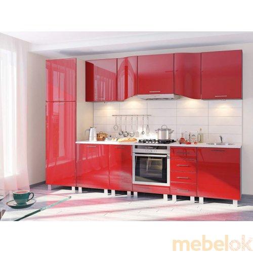 Зеркальное отображение - Кухня-167 Хай-тек 3,2 м