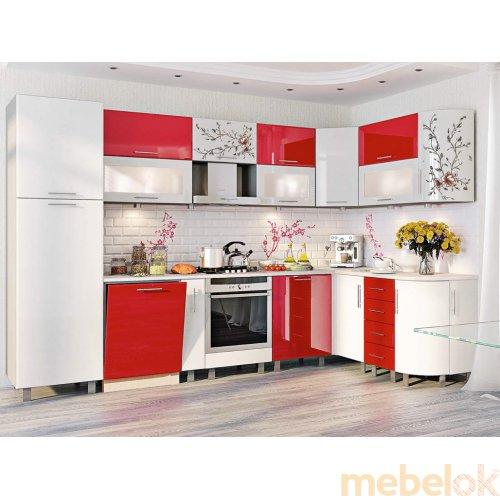 Зеркальное отображение - Кухня-169 Хай-тек 1,7х3,2 м
