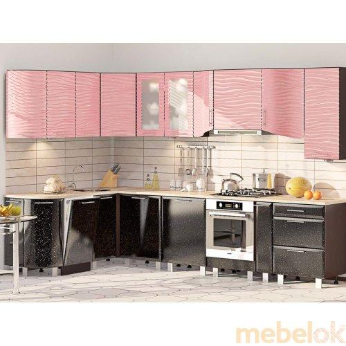 Зеркальное отображение - Кухня-171 Хай-тек 3,2х1,75 м