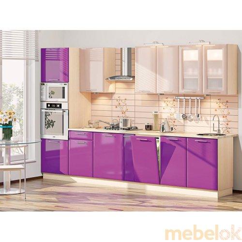 Зеркальное отображение - Кухня-180 Хай-тек 3,3 м