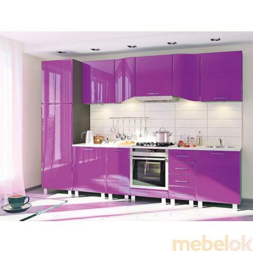 Зеркальное отображение - Кухня-181 Хай-тек 3,2 м