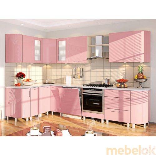 Зеркальное отображение - Кухня-182 Хай-тек 3,1х1,7 м