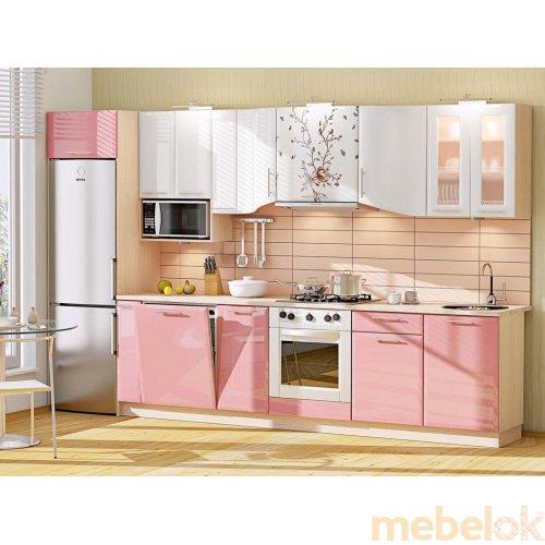 Зеркальное отображение - Кухня-184 Хай-тек 3,43 м