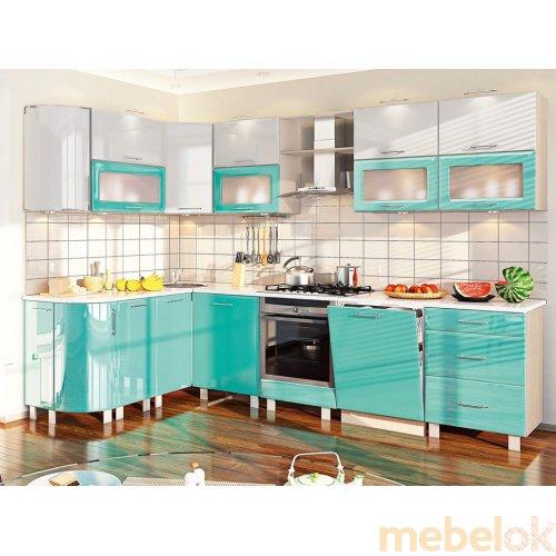 Зеркальное отображение - Кухня-188 Хай-тек 3,0х1,7 м