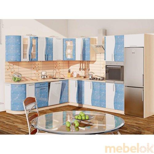 Зеркальное отображение - Кухня-265 Волна 3,23х2,55 м