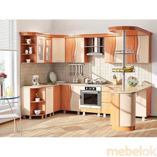 Зеркальное отображение - Кухня-272 Волна 3,0х1,7 м