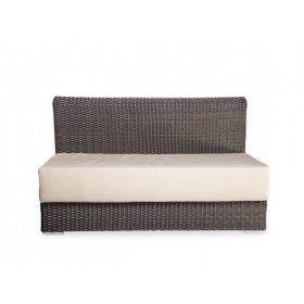 Модульный диван прямой Kombo 130х80х80 без мягкого сидения и подушек