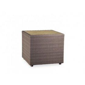 Стол кофейный Kombo столешница из террасовой доски 50х50х45