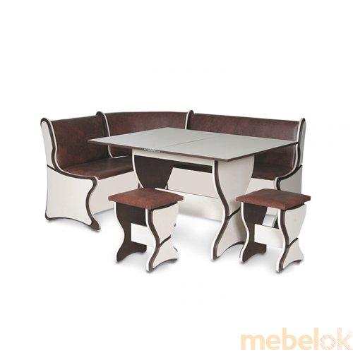 Зеркальное отображение - Кухонный уголок Аргентина со столом и табуретами