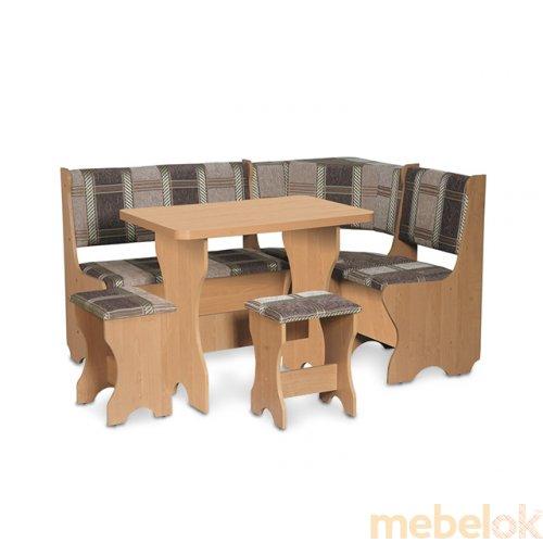 Зеркальное отображение - Кухонный уголок Кипр со столом и табуретом