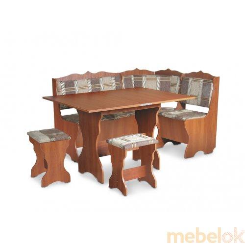 Зеркальное отображение - Кухонный уголок Сирия со столом и двумя табуретами