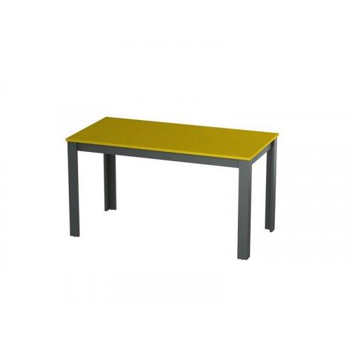 Стол Фаст 138х70х73.8 желтый/антрацит