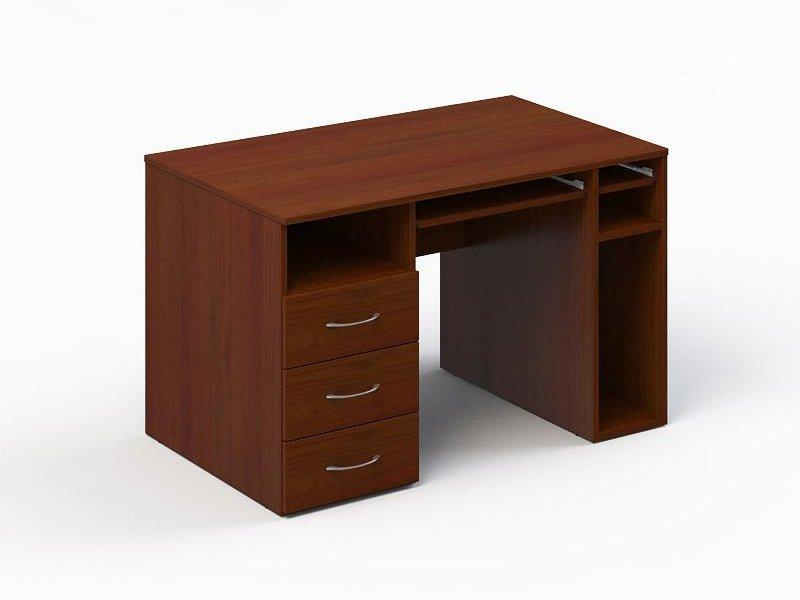 Фото стол компьютерный стандарт 120х70х74 с тумбой. фото ком.