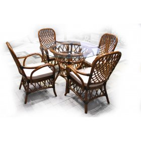 Обеденный комплект Феофания-1 (стол + 4 кресла)