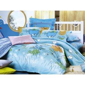 Детский полуторный комплект постельного белья K-01