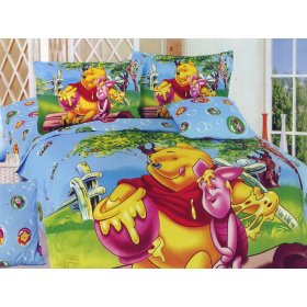 Детский полуторный комплект постельного белья KI-048