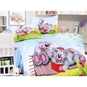Детский полуторный комплект постельного белья KI-061