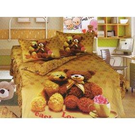 Детский полуторный комплект постельного белья KI-069