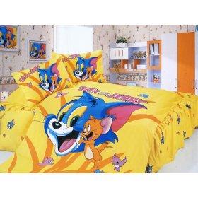 Детский полуторный комплект постельного белья KI-074
