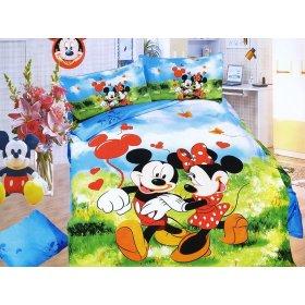 Детский полуторный комплект постельного белья KI-075