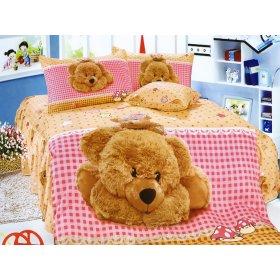 Детский полуторный комплект постельного белья KI-078