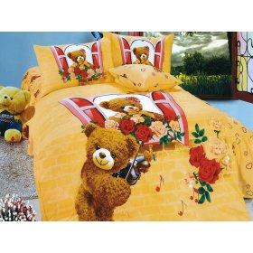 Детский полуторный комплект постельного белья KI-079