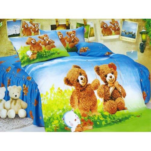 Детский полуторный комплект постельного белья KI-080