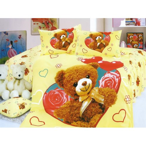 Детский полуторный комплект постельного белья KI-081